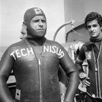 Enzo Maiorca in una foto d'archivio del 21 settembre 1974. ANSA
